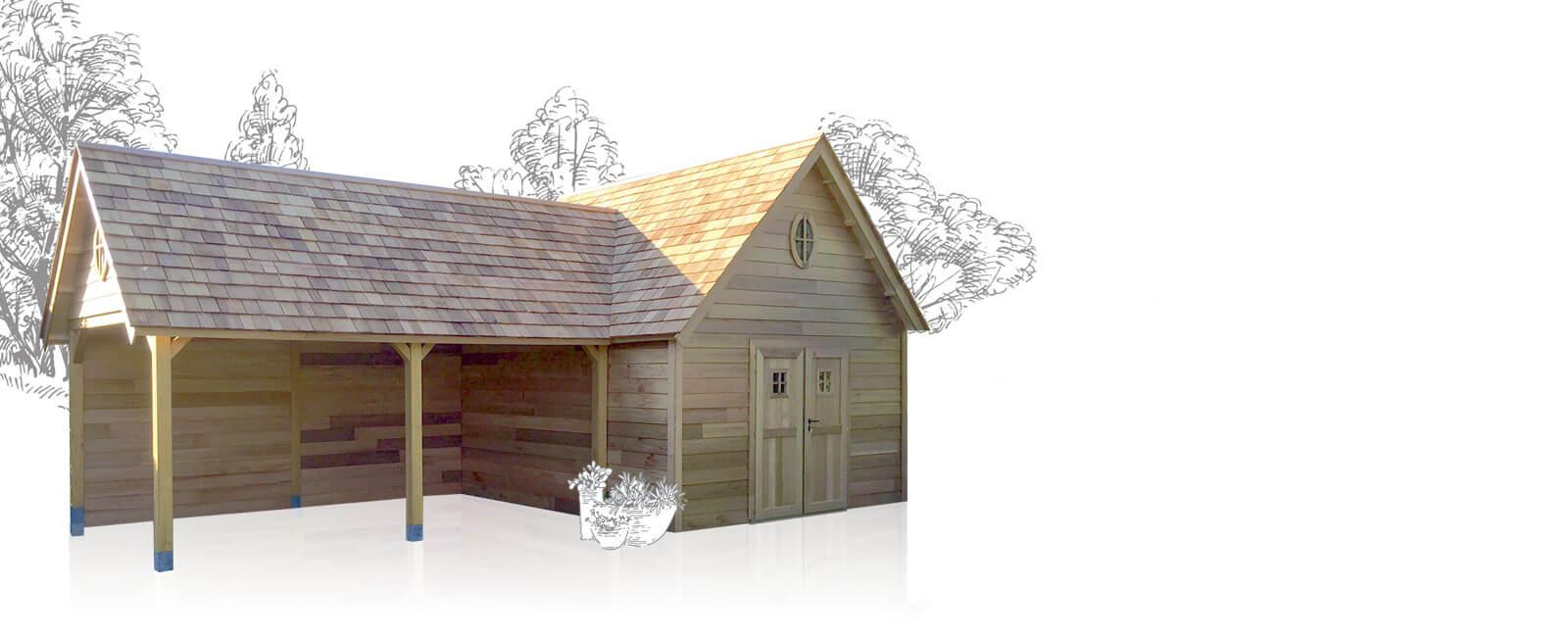 Houten tuinhuis, blokhut, chalet of carport nodig? De ruimste keuze ...